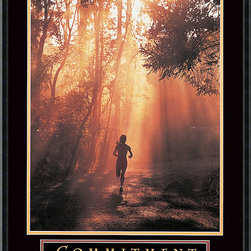 Amanti Art - Commitment Framed Print - You'll renew your determination every time you gaze upon this gallery quality print and read its inspiring motto. Framed in beveled black wood, it makes a handsome addition to your favorite setting.