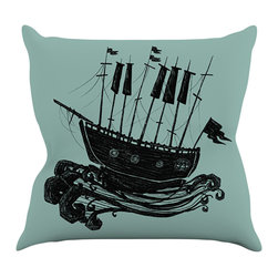 """Kess InHouse - Jaidyn Erickson """"Ship"""" Throw Pillow (16"""" x 16"""") - Rest among the art you love. Transform your hang out room into a hip gallery, that's also comfortable. With this pillow you can create an environment that reflects your unique style. It's amazing what a throw pillow can do to complete a room. (Kess InHouse is not responsible for pillow fighting that may occur as the result of creative stimulation)."""