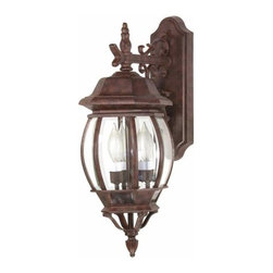 Nuvo Lighting - Central Park Old Bronze Outdoor Wall Mount - -Top to Outlet: 9  -Clear Beveled panels Glass Nuvo Lighting - 60/892
