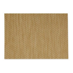 Textiline Twill Woven Vinyl Placemats, Set of 4 - These twill placemats will add texture to the table, and their vinyl finish will make them resistant to any spills.