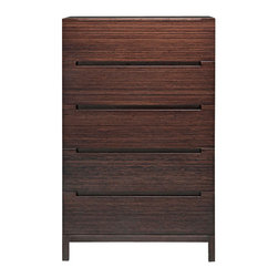 Greenington - Orchid Five Drawer Chest - Here's the skinny on this five-drawer chest: Tall and stately, solidly built, with smooth spacious drawers and clean modern style. Now that's a snappy dresser.
