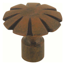 Atlas Homewares - Atlas Homewares 30070-R Fluted Rustic Door Knob, Rust - Atlas Homewares 30070-R Fluted Rustic Door Knob, Rust