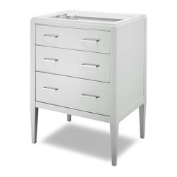 "Xylem - Manhattan Vanity - 24"" White - Manhattan Vanity - 24"" White. Dimensions: 22 in. x 24 in. x 34 in."
