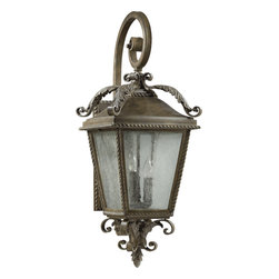 Quorum International - Quorum International 7910-3-43 Rochelle Iron Outdoor Wall Sconce - Quorum International 7910-3-43 Rochelle Bronze Outdoor Wall Sconce