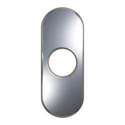 "VIGO Industries - VIGO 4"" Bathroom Deck Plate in Chrome - The VIGO 4"" Bathroom Deck Plate/Escutcheon in Chrome is a simple and practical solution to installing new single-hole faucets into existing three-hole setups."