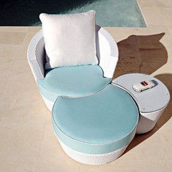 "Eden Roc Collection - Seat height 17""; Seat and back cushions included"