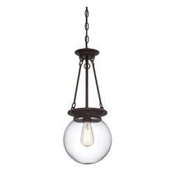 "Savoy House - Savoy House Glass Orb Single Globe Pendant Light in Oiled Burnished Bronze - Shown in picture: Glass Orb 9"" Pendant in Oiled Burnished Bronze Finish"