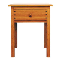 Greenington LLC - Hosta Nightstand - GB0602 - Shop for Nightstands from Hayneedle.com! The Hosta Nightstand is an elegant piece perfect to complement the Hosta Bed or another bedroom set. Constructed of classic bamboo in a warm caramelized finish this beautiful nightstand will last for years and years. A drawer provides storage for items you want to keep near your bed. As a naturally sustainable resource bamboo is an earth-friendly choice for furniture. It is hard durable and stable for years of use. Dimensions: 21.5L x 18.875W x 27H inches.About Greenington LLC.Greenington LLC manufactures the finest natural bamboo furniture available on the market. Bamboo is strong and grows rapidly making it an ideal material for furniture as well as an earth-friendly environmentally sustainable resource. Greenington offers a full line of unique high-quality bamboo furniture for the bedroom living room dining room and office and its products include tables chairs benches and complete bedroom sets (bed nightstands and dressers). Greenington LLC also provides bamboo wine cabinets bamboo stools and much more.