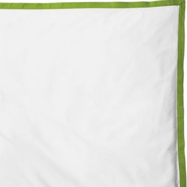 Serena & Lily - Grass Border Frame Duvet - Adding a simple border in a vibrant color to an all-white cover kicks it up a notch.