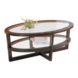 Homelegance - Vista Cocktail Table with Shelf - Oval shape