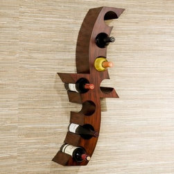 Southern Enterprises Calabria 8 Bottle Wall Mount Wine Rack - Now wine can delight yet even more of your senses with the eye-catching Southern Enterprises Calabria 8 Bottle Wall Mount Wine Rack. This 8-bottle rack mounts on any wall like a painting and is just as captivating. The abstract design is crafted from a single piece of Asian hardwood hand-painted in a distressed rust color. Perfect for your dining room kitchen or anywhere you plan to enjoy a glass of your favorite vintage this modern wine rack combines style and function to enhance your wine collection. About SEI (Southern Enterprises Inc.)This item is manufactured by Southern Enterprises or SEI. Southern Enterprises is a wholesale furniture accessory company based in Dallas Texas. Founded in 1976 SEI offers innovative designs exceptional customer service and fast shipping from its main Dallas location. It provides quality products ranging from dinettes to home office and more. SEI is constantly evolving processes to ensure that you receive top-quality furniture with easy-to-follow instruction sheets. SEI stands behind its products and service with utmost confidence.