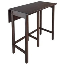 Winsome Lynnwood Drop Leaf High Dining Table - Pub Tables & Sets at Bar Stools