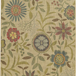 Tommy Bahama Area Rugs - Cabana 1330W Multi-Color Rectangular: 5 Ft. 3 In. x 7 Ft. 6 In. Rug - - The Cabana collection from Tommy Bahama Home features a line of area rugs beautiful enough for the indoors but durable enough to bring its beauty outdoors. The line boasts an 8-color spaced dyed loop pile for added texture, depth and dimension. Featuring a sophisticated color palette in traditional to global designs, Cabana is the perfect addition to any indoor or outdoor space.  - Construction: Machine Woven  - Material: Polypropylene  - Care Instructions: Spot clean with water and mild soap  - Primary Pattern: Floral  - Pile Height in Inches: 0.31  - Country of Origin: Egypt Tommy Bahama Area Rugs - 748679393961