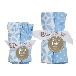 Trend Lab 8 Piece Bib and Burp Cloth Set - Logan - About Trend LabFormed in 2001 in Minnesota, Trend Lab is a privately held company proudly owned by women. Rapid growth in the past five years has put Trend Lab products on the shelves of major retailers, and the company continues to develop thoroughly tested, high-quality baby and children's bedding, decor, and other items. Trend Lab continues to inspire and provide its customers with stylish products for little ones. From bedding to cribs and everything in between, Trend Lab is the right choice for your children.