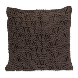 IMAX CORPORATION - Satoria Chocolate Crochet Pillow - Inspired by your favorite chunky knit sweater, the Satoria chocolate crochet pillow adds a soft touch to any decor. Find home furnishings, decor, and accessories from Posh Urban Furnishings. Beautiful, stylish furniture and decor that will brighten your home instantly. Shop modern, traditional, vintage, and world designs.