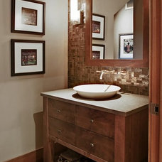 Contemporary Powder Room by ARTifact Interior Design