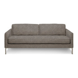Blu Dot - Blu Dot Paramount Medium Sofa, Ash - As comfortable as your favorite jeans. As versatile as a little black dress. This classic sofa can go anywhere in style but don't be surprised if it steals the limelight in its own quiet way. Available in ash, ceramic, graphite, lead, oatmeal, pebble, smoke or stone.