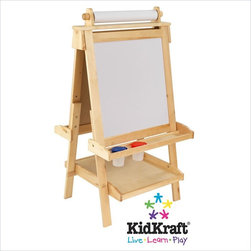 Kidkraft - KidKraft Deluxe Wood Easel with Paper Roll - Kidkraft - Easels - 62005 - Creativity functionality and style come together in KidKraft's Deluxe Wood Easel. With classic lines that will enhance any room or play setting KidKraft's Deluxe Wood Easel will bring out your child's inner-artist. Inspired features that include: