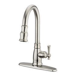 Estora - Estora Varismo Pull Down Faucet, Brushed Nickel - Estora Single Handle Pull-Down Kitchen Faucet from the Varismo Collection