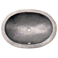Contemporary Bathroom Sinks pewter hammered sink