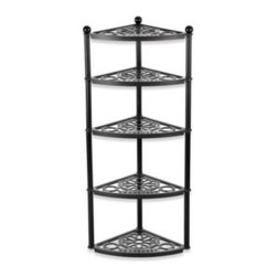 Le Creuset - Le Creuset 5-Tiered Cookware Stand - Five-tiered cookware stand fits perfectly in any corner. A perfect way to showcase your cookware and keep it handy.