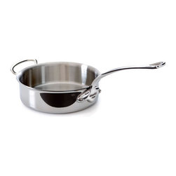 Mauviel - Mauviel M'cook Stainless Steel Saute Pan, Cast Stainless Steel Helper Handle, 5. - 5 ply Construction - High performance cookware, works on all cooking surfaces, including induction.