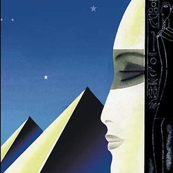 """Buyenlarge.com, Inc. - Setting for An Egyptian Story with Title- Paper Poster 20"""" x 30"""" - Another high quality vintage art reproduction by Buyenlarge. One of many rare and wonderful images brought forward in time. I hope they bring you pleasure each and every time you look at them."""