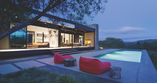 Contemporary Pool by Western Window Systems