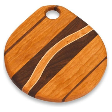 "Picnic Plus - Tella Cheese Cutting Board, Wood - Picnic Plus Tella Cheese Board, Cutting Board, Made In The USA, Wood. Color/Design: Wood; Beautifully handmade in the USA; Individually handmade by a skilled American craftsman; Designed and crafted from a variety of hardwoods such as Cherry, Maple, Walnut, Oak, Paduak, Ash and Purpleheart; Due to the construction and design of each board and the natural wood grain no two boards will be exactly alike; Support our local craftsman with your purchase of this hand crafted board; Hand wash only. Dimensions: 10""W x 11""l x 1""H"