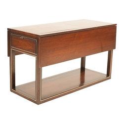 Drexel Furniture Company - Consigned Mid Century Modern Dark Walnut Bar Cart by Drexel - • Mid Century   American Modern