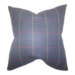 The Pillow Collection - Maillol Blue 18 x 18 PLaid Throw Pillow - - Pillows have hidden zippers for easy removal and cleaning  - Reversible pillow with same fabric on both sides  - Comes standard with a 5/95 feather blend pillow insert  - All four sides have a clean knife-edge finish  - Pillow insert is 19 x 19 to ensure a tight and generous fit  - Cover and insert made in the USA  - Spot clean and Dry cleaning recommended  - Fill Material: 5/95 down feather blend The Pillow Collection - P18-MVT-1234-C100