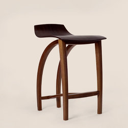 Bar Stool No. 1 - Pictured in wenge and walnut.