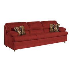 Chelsea Home Furniture - Chelsea Home Clara Sofa in Bulldozer Burgundy - Clara sofa in bulldozer burgundy belongs to Triad collection by Chelsea Home Furniture