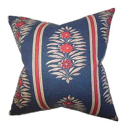 The Pillow Collection - Ginevra Blue 18 x 18 Floral Throw Pillow - - Pillows have hidden zippers for easy removal and cleaning  - Reversible pillow with same fabric on both sides  - Comes standard with a 5/95 feather blend pillow insert  - All four sides have a clean knife-edge finish  - Pillow insert is 19 x 19 to ensure a tight and generous fit  - Cover and insert made in the USA  - Spot clean and Dry cleaning recommended  - Fill Material: 5/95 down feather blend The Pillow Collection - P18-MVT-1213-NAVY-C100