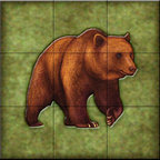 The Tile Mural Store (USA) - Tile Mural - Lodge Grizzly Bear 2   - Kitchen Backsplash Ideas - This beautiful artwork by Dan Morris has been digitally reproduced for tiles and depicts a closeup of a bear.    A bear tile mural would be perfect as a part of your kitchen backsplash tile project or your tub and shower surround bathroom tile project. Bear images on tile make a great kitchen backsplash idea and are excellent to use in the bathroom too for your shower tile project. Consider a tile mural with bear pictures for any room in your home where you want to add wall tile with interest.