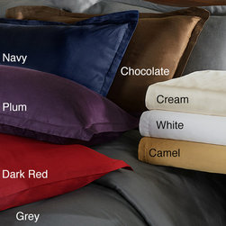 None - Beech 'Brielle' Sateen Modal 3-piece Duvet Cover Set - Give your bed a makeover with one of these stylish duvet cover sets. This set is constructed of 100-percent modal sateen giving it a smooth,luxurious feel. Available in eight colors,the duvet features a button closure for convenient cleaning.