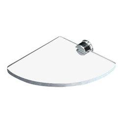 Toscanaluce - Large Clear Plexiglass Corner Bathroom Shelf - Unique wall mounted large bathroom corner shelf.