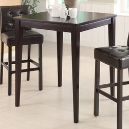 "Coaster - Bar Table in Cappuccino - Counter height table with a deep cappuccino finish.; Casual Style; Finish: Cappuccino; No assembly required.; Dimensions: 36""L x 36""W x 42""H"