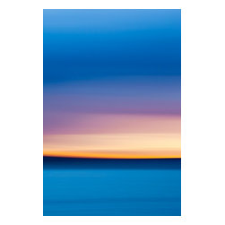 """Silky Sunset, Limited Edition, Photograph - A beautiful abstract photo of the sun setting behind the clouds on the docks in Kirkland, WA.  The soft feel, yet bold colors give it a silky feel and will add color and drama to any room.  Image is printed with a 1"""" white border and matted to 24x32"""" mat, ready for framing."""