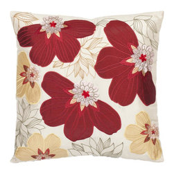 Safavieh - Victorian Accent Pillow - Red,Yellow - Victorian Accent Pillow - Red,Yellow