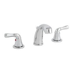Premier - Sanibel Lead-Free Widespread Two-Handle Chrome Lavatory Faucet - Premier 120042LF Sanibel Lead-Free Widespread Two-Handle Lavatory Faucet, Chrome.