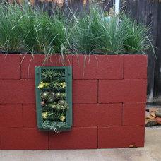 Eclectic Outdoor Planters by Carson Douglas Landscape Architecture