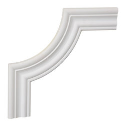 """Ekena Millwork - 10""""W x 10""""H x 5/8""""P Oxford Panel Moulding Corner - 10""""W x 10""""H x 5/8""""P Oxford Panel Moulding Corner. Our beautiful panel moulding and corners add a decorative, historic, feel to walls, ceilings, and furniture pieces. They are made from a high density urethane which gives each piece the unique details that mimic that of traditional plaster and wood designs, but at a fraction of the weight. This means a simple and easy installation for you. The best part is you can make your own shapes and sizes by simply cutting the moulding piece down to size, and then butting them up to the decorative corners. These are also commonly used for an inexpensive wainscot look."""
