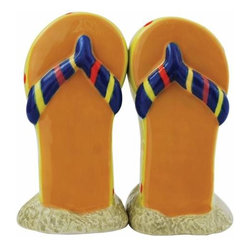 WL - 3.5 Inch Dark Blue Striped Flip-flop in Sand Salt and Pepper Shakers - This gorgeous 3.5 Inch Dark Blue Striped Flip-flop in Sand Salt and Pepper Shakers has the finest details and highest quality you will find anywhere! 3.5 Inch Dark Blue Striped Flip-flop in Sand Salt and Pepper Shakers is truly remarkable.