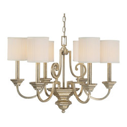 Capital Lighting - Capital Lighting Fifth Avenue Traditional 6-Light Chandelier X-484-GW6004 - Cylindrical box pleated, stay-straight shades add a subtle contemporary vibe to this beautiful Capital Lighting chandelier. From the Fifth Avenue Collection, it features candelabra lights and traditional details, all highlighted by a rich Winter Gold finish that gives it a visually stunning effect.