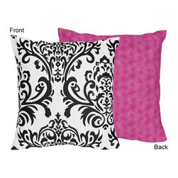 Sweet Jojo Designs - Isabella Pink Decorative Accent Throw Pillow by Sweet Jojo Designs - The Isabella Pink Decorative Accent Throw Pillow by Sweet Jojo Designs, along with the  bedding accessories.
