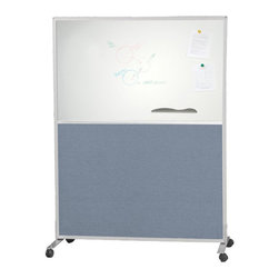 Best Rite - Blue Best Rite Double Sided Fabric & Markerboard Office Partition/Room Divider - - Shop for Room Dividers from Hayneedle.com! Dividing an office or a room in different sections becomes easy with the Best Rite Double Sided Fabric/Markerboard Office Partition/Room Divider - 36W x 72H in. - Blue. Featuring high quality fabric a honeycomb core and anodized aluminum frame construction this divider is lightweight and durable. Its multiple connector options are ideal for customized configuration. Versatility is expressed in its double-sided utility that combines a customizable option of fabric and dry erase markerboard.