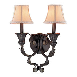 Crystorama - Crystorama Winslow Wall Sconce in Dark Rust - Shown in picture: Handpainted Wrought Iron Wall Sconce; Winslow Collection offers traditional flare - whether in Dark Rust of Champagne finish. Winslow Collection comes with Ivory Shades - and optional Crystal Clear beads & Smooth Oyster accents.