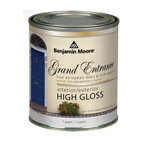 Grand Entrance Enamel Front Door Paint, High-gloss Finish - Borrowing from the European tradition of glossy doors, this high-gloss paint will quickly dress up your front door and make it sparkle.