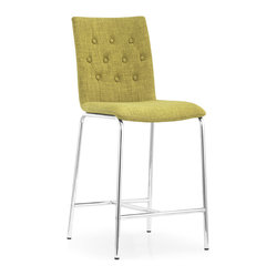 ZUO MODERN - Uppsala Counter Chair Pea Fabric (set of 2) - Uppsala Counter Chair Pea Fabric